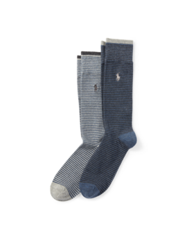 Stripe Trouser Sock 2 Pack by Ralph Lauren