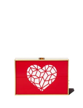 Cutout Heart Clutch by Reine
