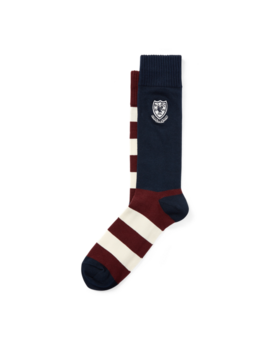 Striped Crest Trouser Socks by Ralph Lauren