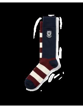 Striped Crest Trouser Socks by Ralph Lauren