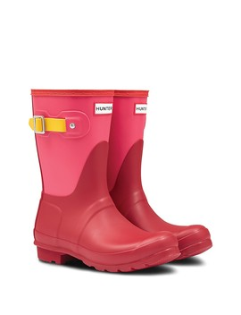 Original Short Colorblock Waterproof Rain Boot by Hunter