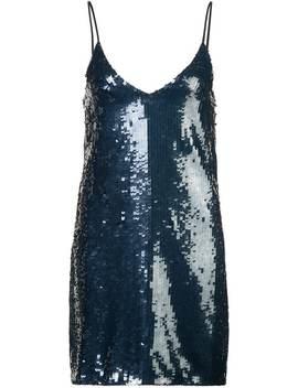 Sequin Mini Slip Dress by Fleur Du Mal