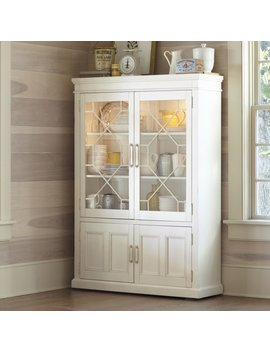 Birch Lane™ Heritage Lisbon Solid Rubberwood Lighted China Cabinet & Reviews by Birch Lane™ Heritage