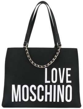Logo Embroidered Tote by Love Moschino