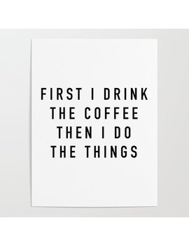 Coffee Poster by