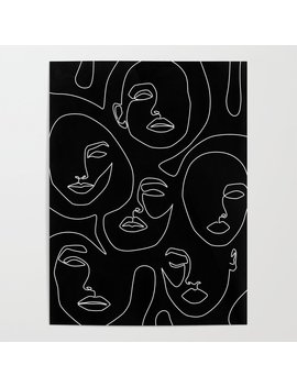 Faces In Dark Poster by