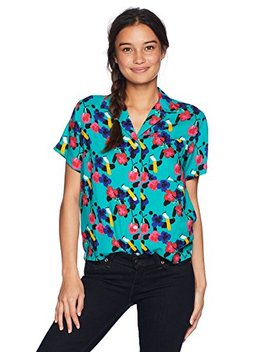 Obey Women's Ashed Out Button Down Woven Shirt by Obey