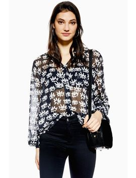 Eye Print Shirt by Topshop