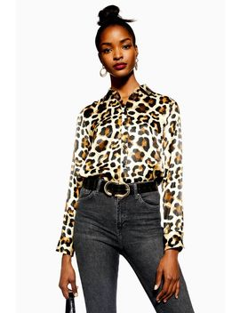 Visual Leopard Print Shirt by Topshop