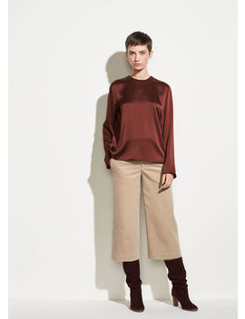 Corduroy Crop Wide Pant by Vince
