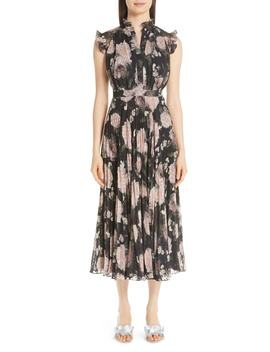 Floral Print Voile Midi Dress by Erdem