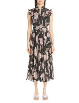 Floral Print Voile Midi Dress by Erdem