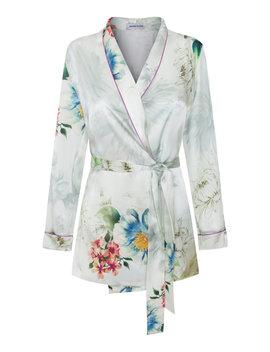 Waldorf Floral Silk Satin Pajama Top by Adriana Iglesias