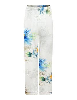 Alessia Floral Silk Satin Pants by Adriana Iglesias