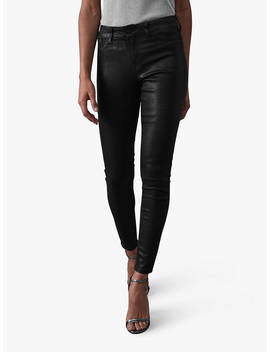Reiss Lux Mid Rise Skinny Jeans, Black by Reiss