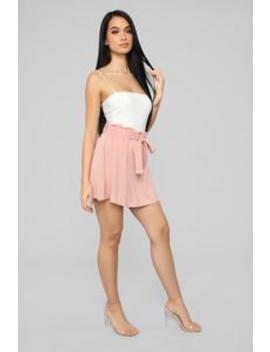 Young Hearts Tie Waist Skater Skirt   Mauve by Fashion Nova