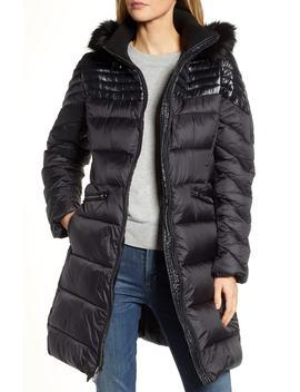 Faux Fur Detail Water Resistant Puffer Coat by Rachel Rachel Roy