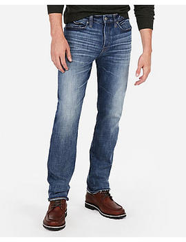 Classic Straight Hyper Stretch Medium Wash Jeans by Express
