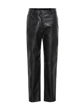Faux Leather High Rise Pants by Stella Mc Cartney