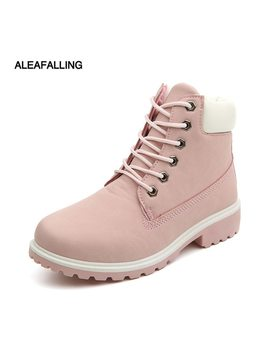 Aleafalling Motocycle Booties Women Botas Female Womens Ankle Winter Snow Boots Mature Boots Autumn Shoes Big Size 36 46 Wbt01 by Aleafalling