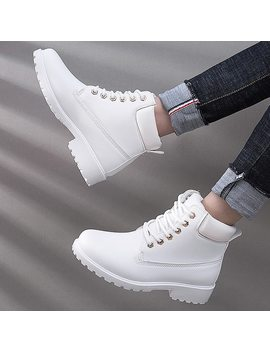 Winter Boots Women Shoes 2018 New British Wind Warm Students Flat Women Snow Boots Velvet Martin Ankle Boots Shoes Woman by Jiasha