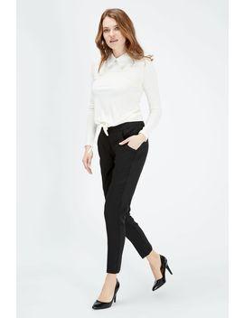 Black Bi Stretch Single Zip Pocket Trouser by Select