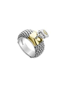 Beloved Lock Charm Band Ring by Lagos