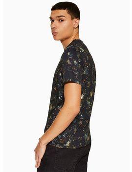 Black Cosmic Printed T Shirt by Topman