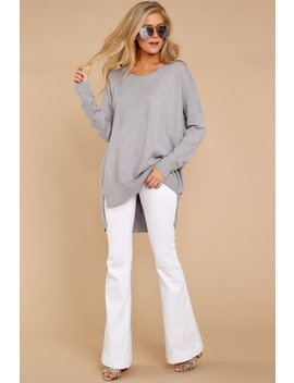 Heaven's Touch Heather Grey Sweater by So Soft Collection