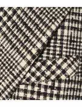 Augusta Checked Cotton Blend Coat by Veronica Beard