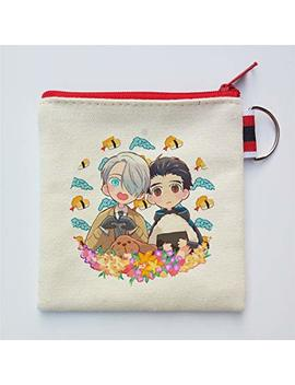 Anime Yuri On Ice Cospaly Small Cute Canvas Coin Purse Zipper Enclosure Card Package (4) by Siawasey