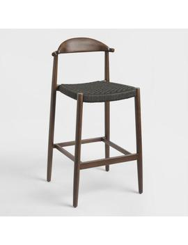 Charcoal Gray Woven Aimee Barstool by World Market