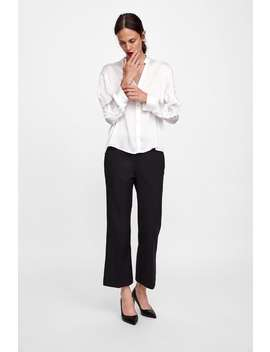 Blouse With Frilled Sleeves  From 60 Percents Off Woman Sale by Zara