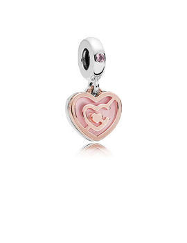 Path To Love Charm, Pandora Rose™, Pink Crystal & Enamel Pandora Rose With Sterling Silver, Enamel, Crystal by Pandora