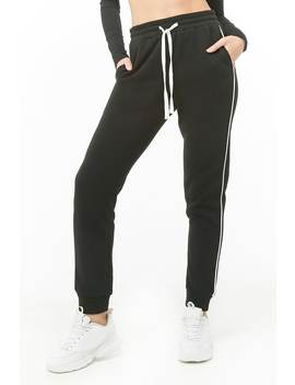 Piped Trim Drawstring Joggers by Forever 21