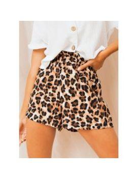 Pekish Shorts   Leopard Print by Peppermayo