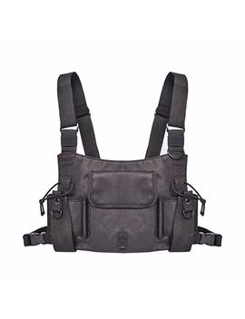 Kobwa Universal Radio Wireless Caller Harness Chest Rig Pack Pocket Bag Holster Vest by Kobwa