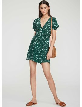 Betina Floral Print   Green   Mira Dress by Faithfull The Brand
