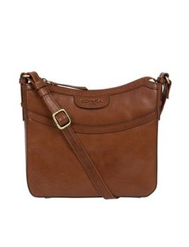 Conkca London   Conker Brown 'tamara' Handcrafted Leather Cross Body Bag by Conkca London