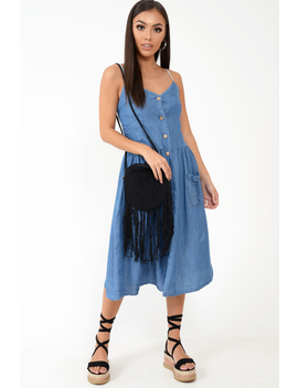 Denim Button Up Dress   Lilyanne by Rebellious Fashion