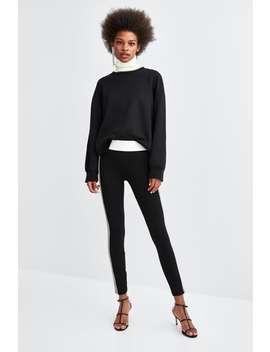 Side Stripe Leggings  Bottomsstarting From 50 Percents Off Woman Sale by Zara