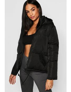 Tall Hooded Crop Padded Jacket by Boohoo