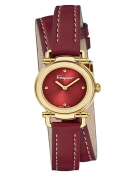 Gancino Leather Strap Watch, 26mm by Salvatore Ferragamo