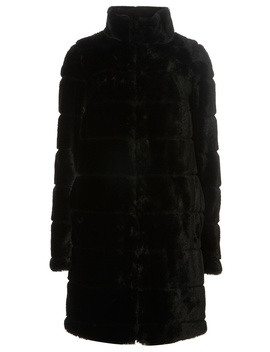 **Tall Black Lined Faux Fur Coat by Dorothy Perkins
