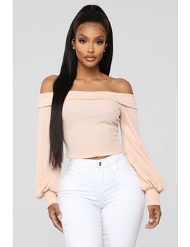 Forgive Me Off Shoulder Top   Peach by Fashion Nova