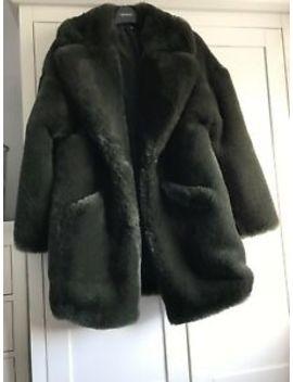 Zara Womans Green Faux Fur Coat Size Medium Bnwot (12) by Ebay Seller