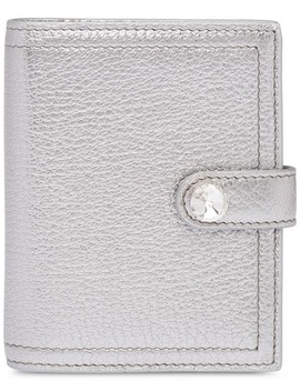 Madras Leather Wallet by Miu Miu