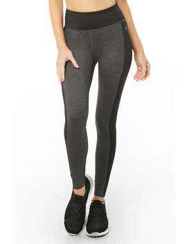Active Marled Colorblock Leggings by Forever 21