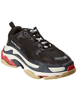 Balenciaga Triple S Leather & Mesh Sneaker by Balenciaga