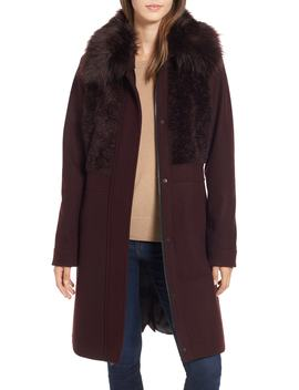 Faux Fur Trim Coat by Rachel Rachel Roy